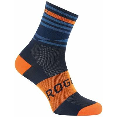 Designové funkční ponožky Rogelli STRIPE, oranžovo-modré 007.205, Rogelli