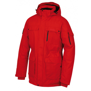 Pánská péřová bunda Husky Dantex M červená, Husky