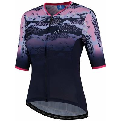 Dámský cyklodres Rogelli ANIMAL s krátkým rukávem, modro-růžový, 010.050, Rogelli