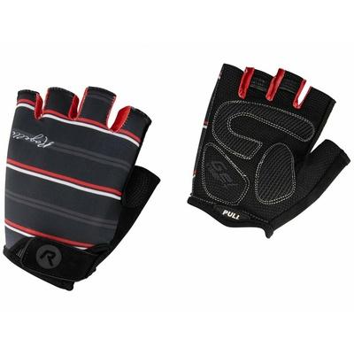 Dámské rukavice na kolo Rogelli STRIPE, černo-bílo-červené 010.619, Rogelli