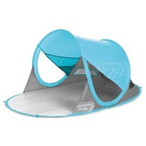 Spokey STRATUS Samorozkládací plážový paravan UV 40 190x120x90cm světle modrý, Spokey