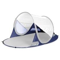 Samorozkládací plážový paravan Spokey STRATUS UV 40 190x120x90 cm bílo-modrý