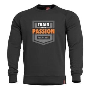 Mikina PENTAGON® Hawk Train Your Passion černá, Pentagon