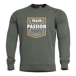 Mikina PENTAGON® Hawk Train Your Passion zelená, Pentagon