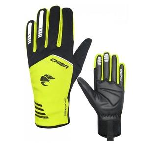 Cyklistické rukavice Chiba 2nd SKIN černo/žluté 31239.03-1, Chiba