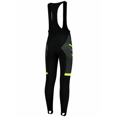 Silně hřejivé cyklistické kalhoty Rogelli TEAM 2.0 s gelovou výstelkou, černo-reflexní žluté 002.970, Rogelli