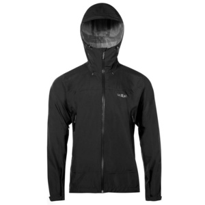 Pánská bunda Rab Downpour Plus Jacket black, Rab