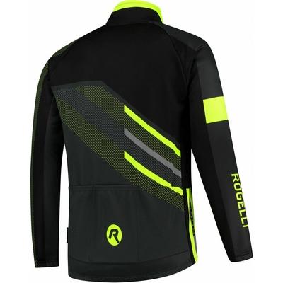 Membránová cyklistická bunda Rogelli TEAM 2.0, černá-reflexní žlutá 003.970, Rogelli