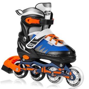 Kolečkové brusle Spokey TONY černo-modro-oranžové ABEC7 Carbon, Spokey