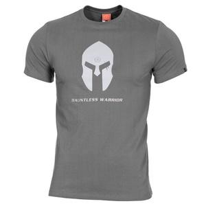 Pánské tričko PENTAGON® Spartan helmet wolf grey