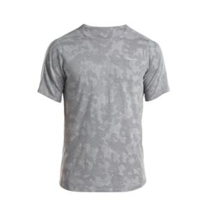Pánské triko s krátkým rukávem Saucony Men Negative-Splt Jacquard Ss Dark Grey, Saucony