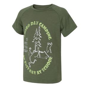 Dětské triko Husky Zingl Kids tm.zelená, Husky