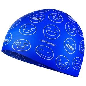 Juniorská plavecká čepice Spokey EMOJI modrá, Spokey