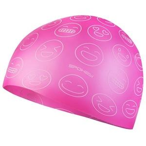Juniorská plavecká čepice Spokey EMOJI růžová, Spokey