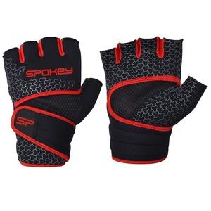 Neoprenové fitness rukavice Spokey LAVA černo-červené, Spokey