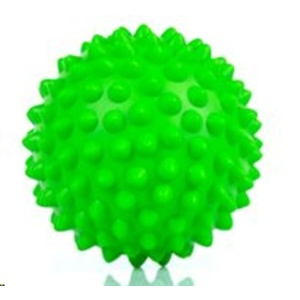Rehabilitační masážní míček Spokey TONI 90 mm, zelený, Spokey