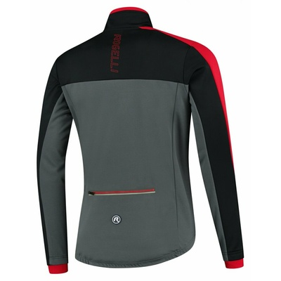 Pánská zimní bunda Rogelli Freeze šedo-černo-červená ROG351022, Rogelli