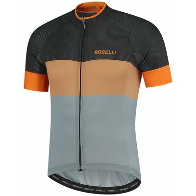 Aerodynamický závodní cyklodres Rogelli BOOST s krátkým rukávem, šedo-černo-oranžový 001.119, Rogelli