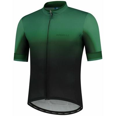 Designový cyklodres Rogelli HORIZON s krátkým rukávem, černo-zelený 001.417, Rogelli