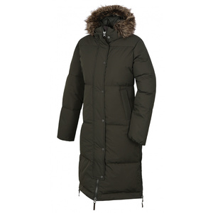 Dámský péřový kabát Husky Downbag L tm. khaki, Husky