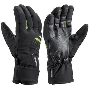 Lyžařské rukavice LEKI Spox GTX black/lime