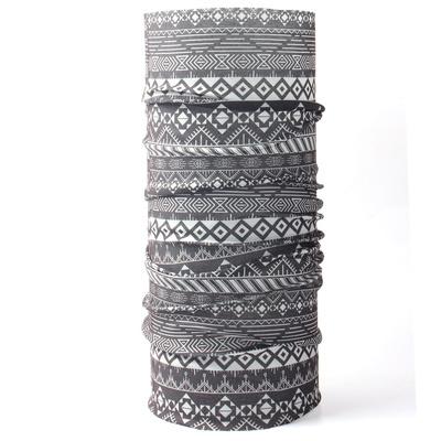 Multifunkční šátek Husky Printemp grey triangle stripes, Husky