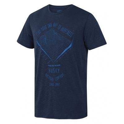 Pánské triko  Husky Tingl M tm. modrá, Husky