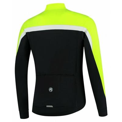 Pánský hřejivý cyklistický dres Rogelli Course černo-reflexně žluto-bílý ROG351004, Rogelli