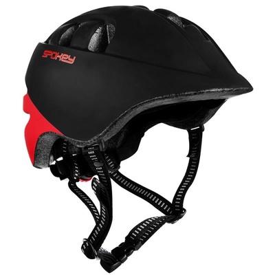 Dětská cyklistická přilba Spokey CHERUB 48-52 cm, černo-červená, Spokey