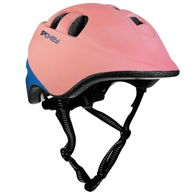 Dětská cyklistická přilba Spokey CHERUB 52-56 cm, růžovo-modrá, Spokey