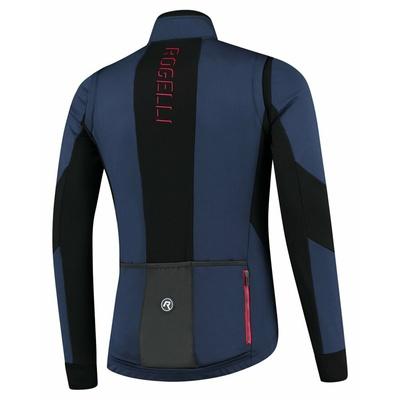 Pánská softshellová cyklobunda Rogelli Brave modro-černo-červená ROG351025, Rogelli