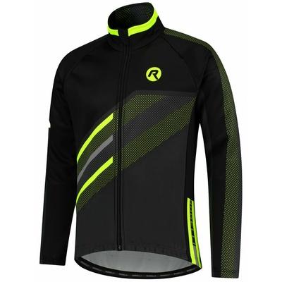 Membránová cyklistická bunda Rogelli TEAM 2.0, černá-reflexní žlutá 003.970