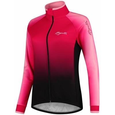 Dámský cyklistický dres Rogelli Glow s dlouhým rukávem růžovo-černý GLOWLS, Rogelli