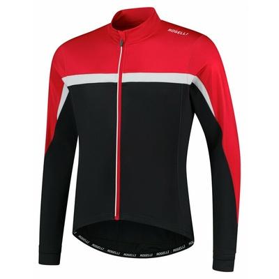 Pánský hřejivý cyklistický dres Rogelli Course černo-červeno-bílý ROG351005, Rogelli