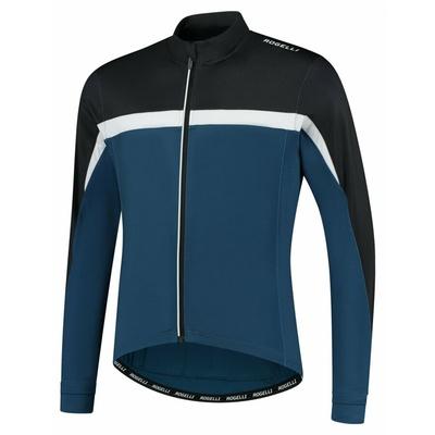 Pánský hřejivý cyklistický dres Rogelli Course modro-černo-bílý ROG351006, Rogelli