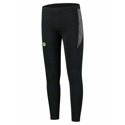 Pánské běžecké kalhoty Rogelli Enjoy černo-reflexní žluté ROG351100, Rogelli