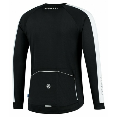 Pánský cyklistický dres bez zateplení Rogelli Explore černo-bílý ROG351000, Rogelli