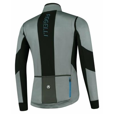 Pánská softshellová cyklobunda Rogelli Brave šedo-černo-modrá ROG351023, Rogelli