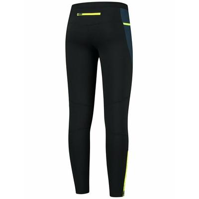 Pánské zateplené běžecké kalhoty Rogelli černá-tmavě modrá-reflexní žlutá ROG351101, Rogelli