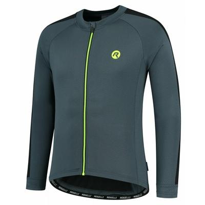 Pánský cyklistický dres bez zateplení Rogelli Explore šedo-černo-reflexně žlutý ROG351002, Rogelli
