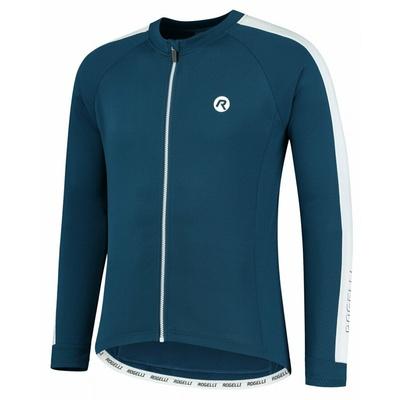 Pánský cyklistický dres bez zateplení Rogelli Explore modro-bílý ROG351001, Rogelli