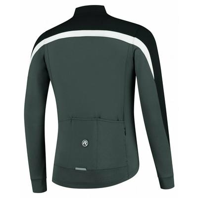 Pánský hřejivý cyklistický dres Rogelli Course šedo-černo-bílý ROG351007, Rogelli