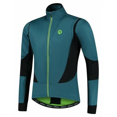 Pánská softshellová cyklobunda Rogelli Brave modro-černo-zelená ROG351026, Rogelli