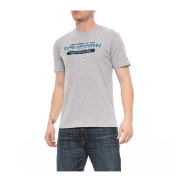 Pánské tričko Saucony Men Ra Graphic Tee/Heather Grey