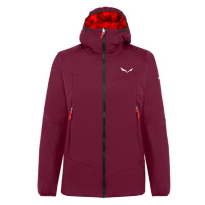 Dámská zimní bunda Salewa Ortles Tirolwool Responsive stretch hooded rhodo red 28248-6360, Salewa