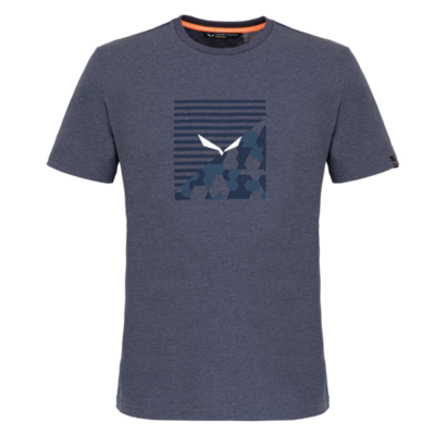 Pánské tričko Salewa Printed Box Dry premium navy melange 28259-3986, Salewa