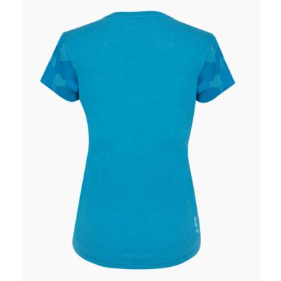 Dámské tričko Salewa Camou Sleeve Dry blue danube melange 28260-8989, Salewa