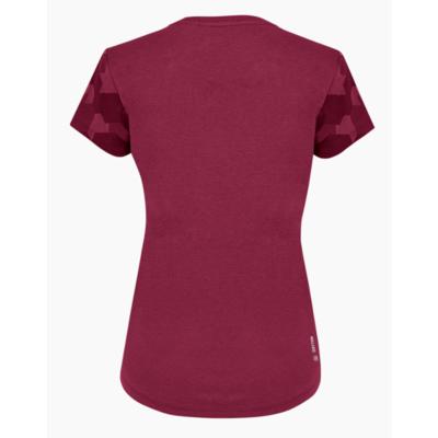 Dámské tričko Salewa Camou Sleeve Dry rhodo red melange 28260-6368, Salewa
