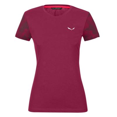 Dámské tričko Salewa Camou Sleeve Dry rhodo red melange 28260-6368