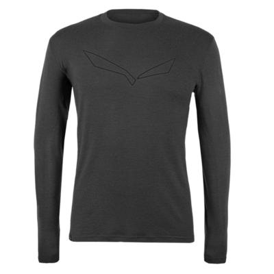 Pánské tričko Salewa Pure logo merino responsive long Sleeve Tee black out 28262-0910, Salewa